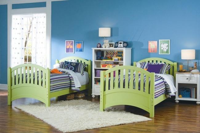 Wohnideen für Kinderzimmer mit bunten Farben - kinderzimmer blau mdchen