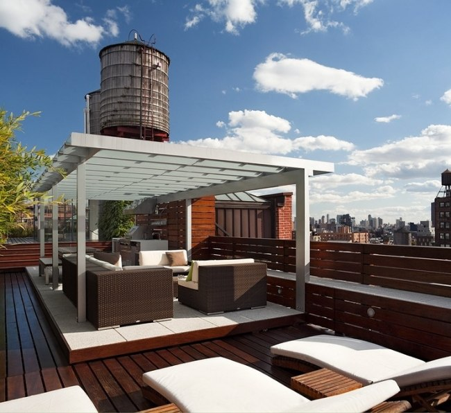 108 Gestaltungsideen für Terrassen, Dachterrasse \ Balkon - ideen terrasse gestalten