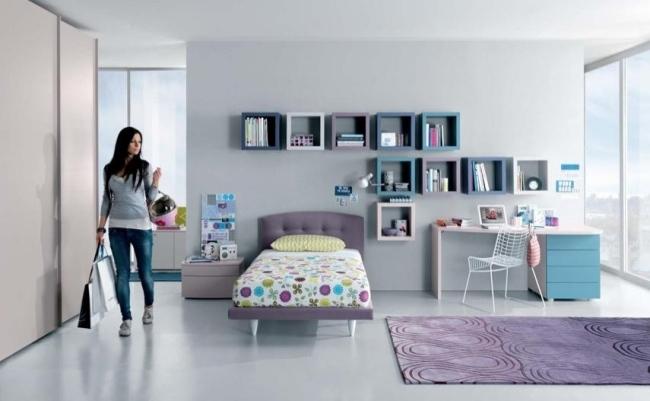 107 Ideen fürs Jugendzimmer - Modern und kreativ einrichten - kinderzimmer blau mdchen