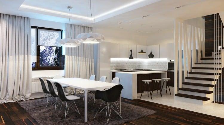 Esszimmer Design Schwarz Weis Kontraste u2013 edgetagsinfo - esszimmer dettenhausen