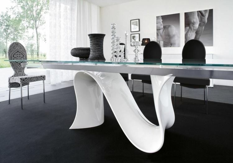 Esszimmer Design Ideen u2013 spannende Schwarz-Weiß-Kontraste setzen - esszimmer weiss