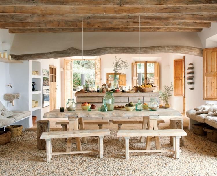 20 Ideen für Esszimmer Interieur Design in rustikalem Schick - esszimmer aus holz