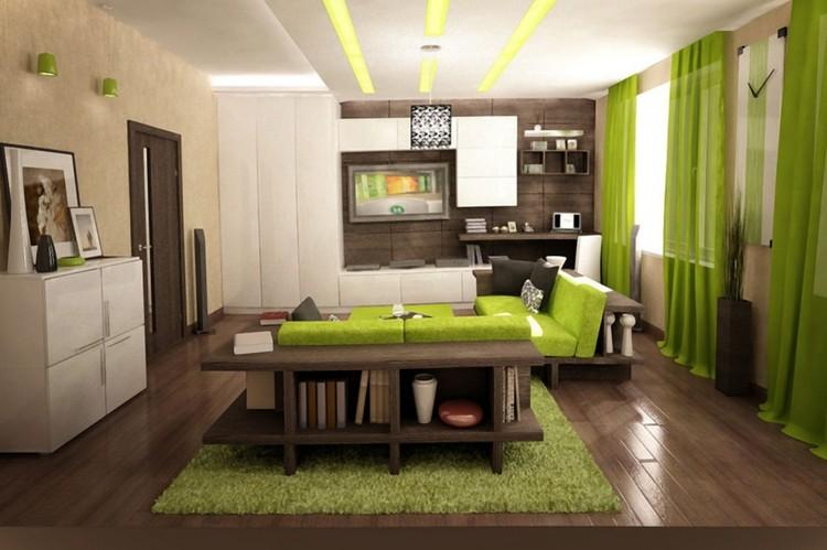 Frische Farben im Wohnzimmer - 20 Ideen in grün und weiß - wohnzimmer farben fotos