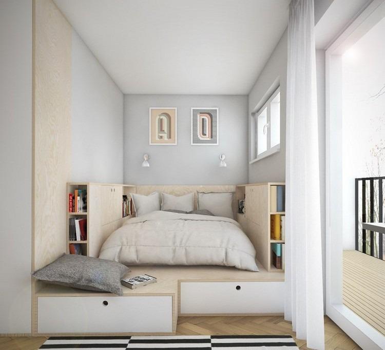 Kleines Schlafzimmer einrichten - 25 Ideen für Raumplanung - schlafzimmer 14 qm einrichten