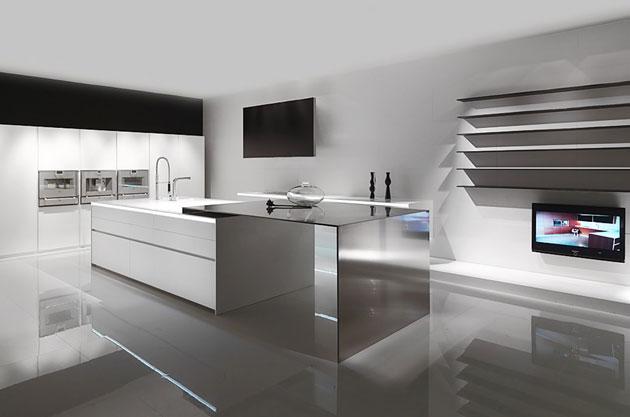 Minimalismus Kueche Elegante Linien Villawebinfo   Mini Kuche  Futuristisches Design Soria
