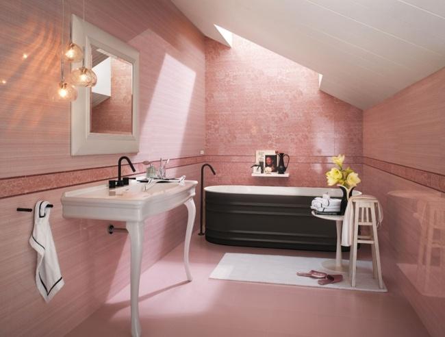 Italienische Bad Fliesen Von FAP Ceramiche   25 Hervorragende Designs    Badezimmer Rosa