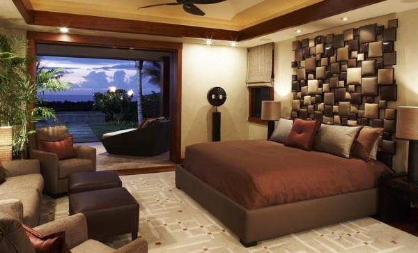 25 Ideen für attraktive Wandgestaltung hinter dem Bett - schlafzimmer wandgestaltung braun