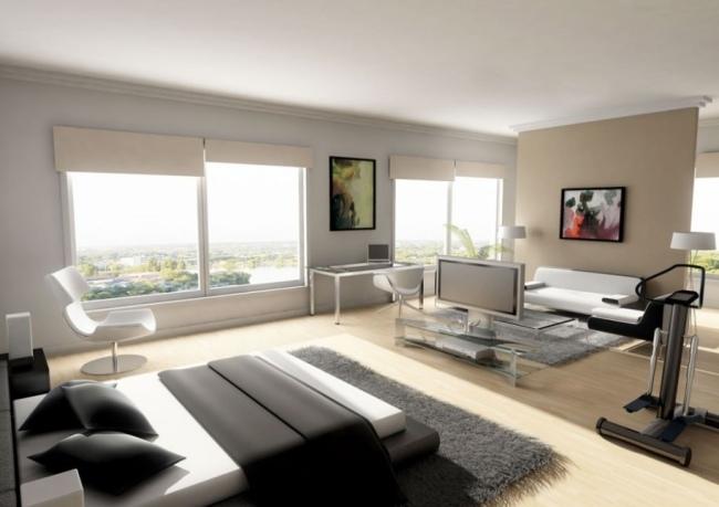 beautiful wohnideen fur schlafzimmer designs ideas - house design ... - Bett Mit Minimalistisch Grauem Design Bilder