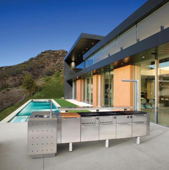 Küche im Garten oder am Balkon ersetzt erfolgreich den Grill - kuche im garten balkon grill