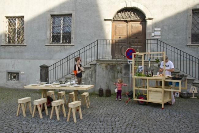 Mobile Küche von ChmaraRosinke bringt einen neuen Wohnstil mit sich - mobile kuche chmara rosinke neuer wohnstil