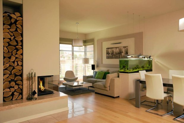 aquarium-raumteiler-ideen-wohnzimmer-essbereich-weiß-beigejpg - wohnzimmer design weiss