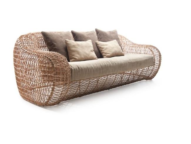 Luxus Gartensofa Rattan
