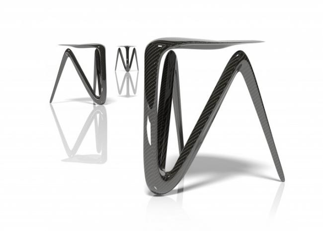 Ausgefallenes Stuhl Design aus Kohlenstofffasern von Alvaro Uribe - ausgefallenes stuhl design kohlenstoff alvaro uribe
