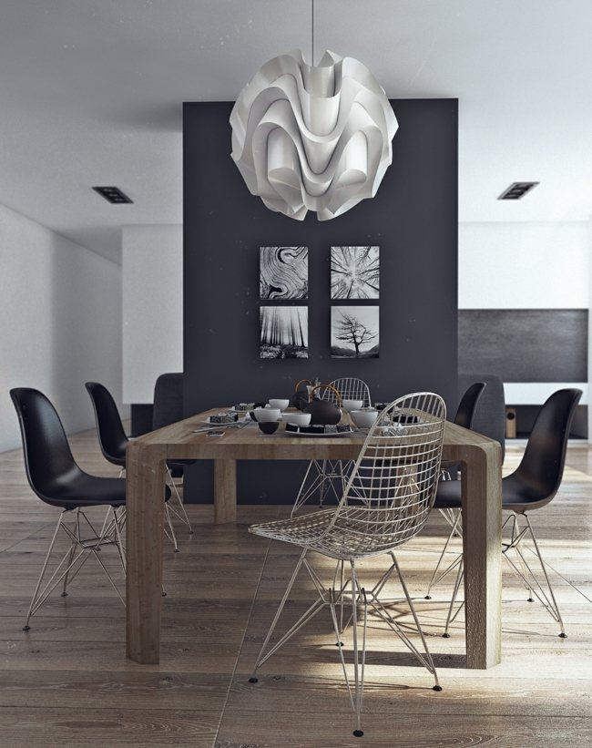 Esszimmer-graue-wand-64 chestha dekor kamin esszimmer 67 besten - esszimmer graue wand