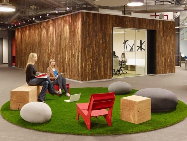 Buro mobel praktisch organisieren platz sparen  Beautiful Buro Einrichtung Beton Holz Images - House Design Ideas ...
