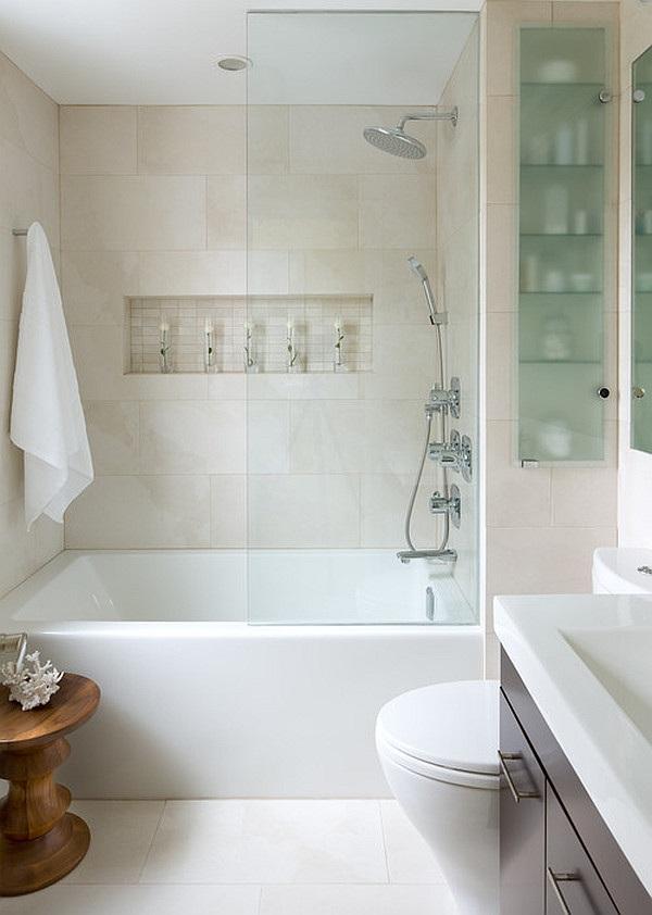 21 Ideen, wie Sie ein kleines Bad gestalten und dekorieren können - weies badezimmer modern gestalten