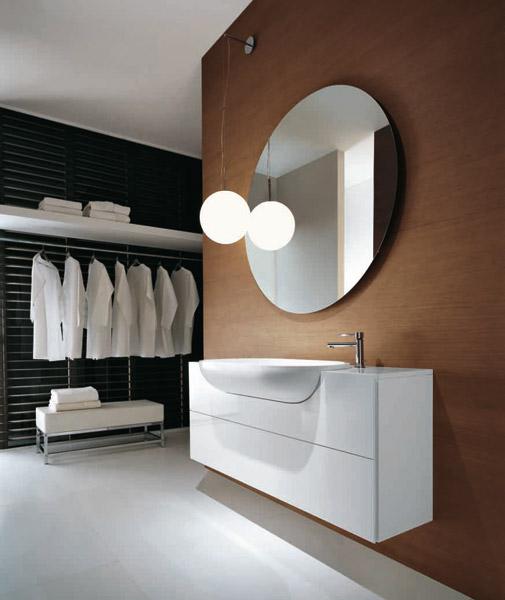 Anthrazit Bad Mit Mosaik Waschbecken Unterschrank Sanita Hochglanz   Badezimmer  Unterschrank Schmal