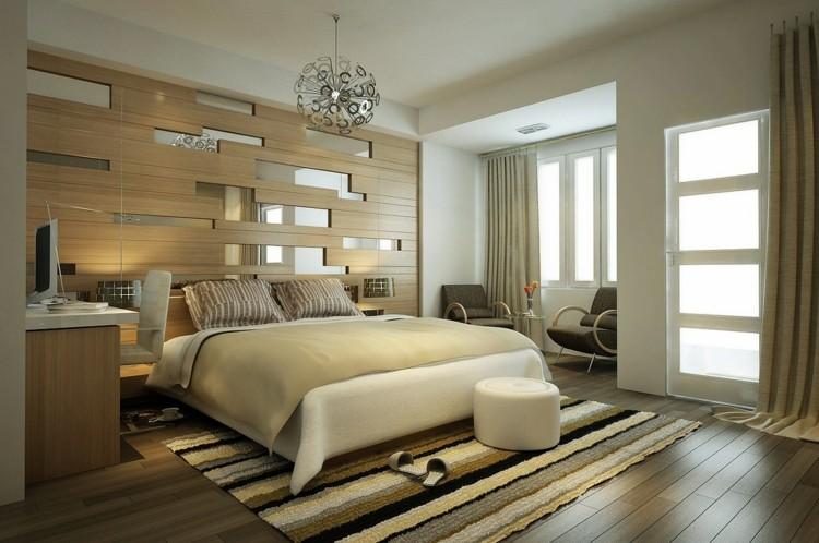 Gestaltungsideen für Schlafzimmer - Edel wirken und Ton in Ton halten - schlafzimmer einrichten holz