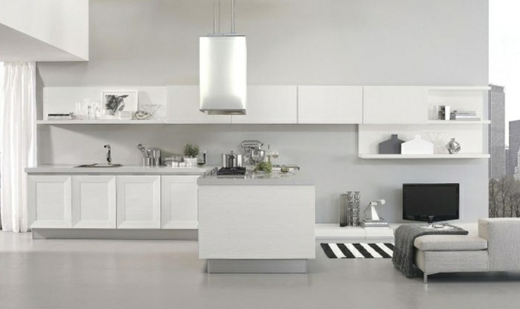 Moderne Kücheninsel Mit Eingebautem Herd Von La Cornue   Schwarze Edelstahl  Kochinsel Mina