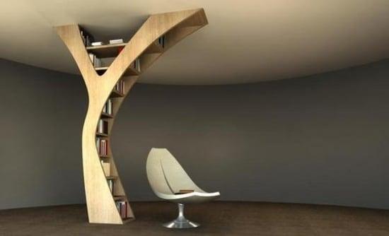 Unkonventionelle Bücherregal Designs dienen als Akzent im Interieur - bucherregal designs akzent interieur