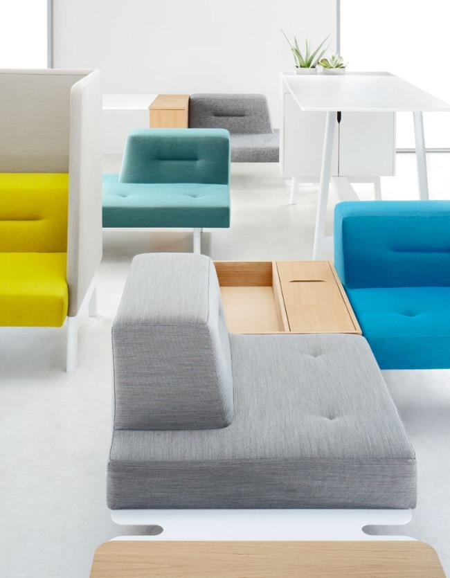 corner sofa / contemporary / leather / 5-seater - avatar ... - Das Modulare Raumtrennsystem Benjamin Hubert