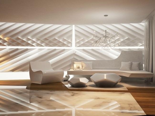 Stunning Futuristisch Anmutende Designer Wohnung Bozhinovski ...