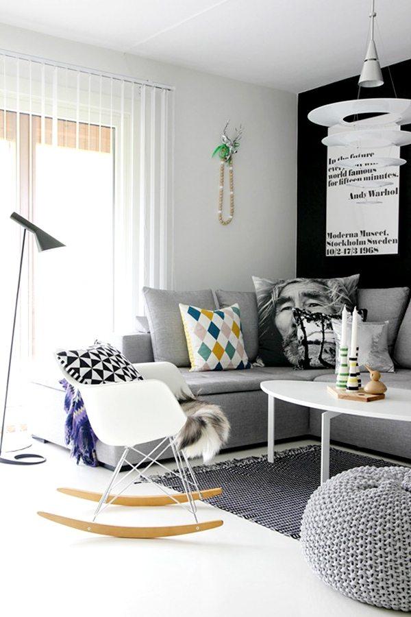 Wolldecke Wohnzimmer