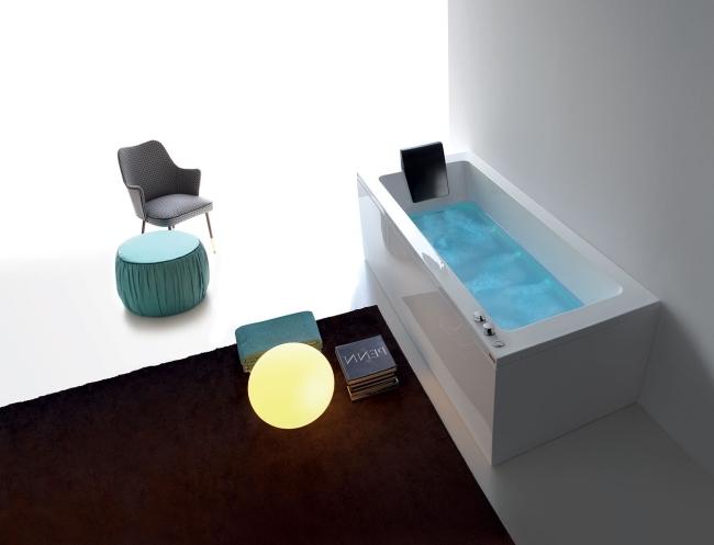 awesome hi tech acryl badewanne led einbauleuchten images - home ...