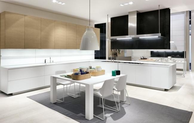 Moderne Küche Mit Hellem Holz u2013 massdentsinfo - design kuchen twelve hochfunktional