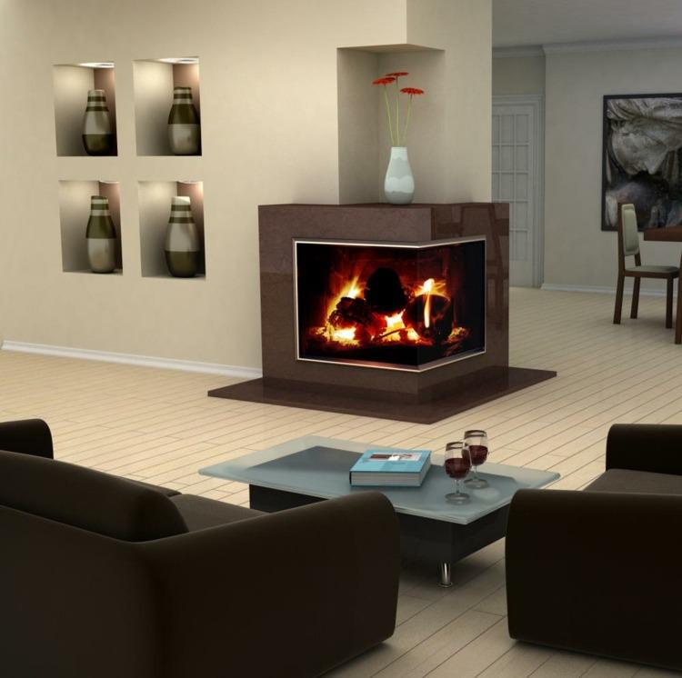 Wohnzimmer mit Kamin gestalten - 43 Ideen für Wärme \ Gemütlichkeit - kaminecke gestalten