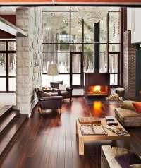 Wohnzimmer mit Kamin gestalten - 43 Ideen fr Wrme ...