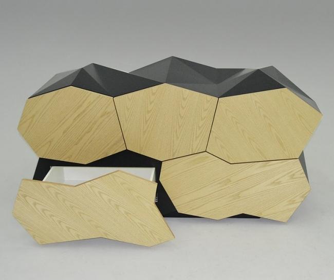 Gastapelte Schubladen Designer Kommode - Wohndesign