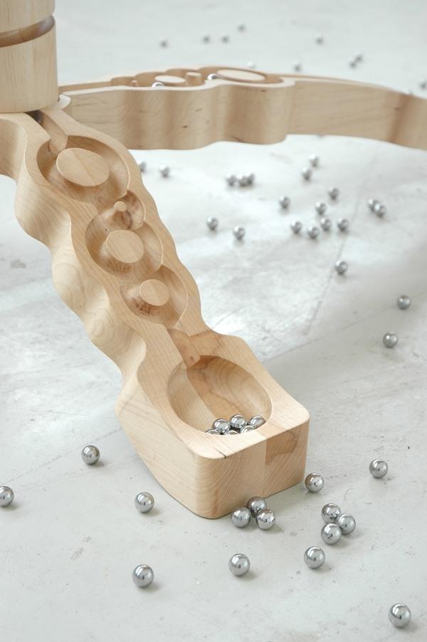 Toll Holz Esstisch Design Murmelbahn   Entwurfcsat   Holz Hocker Sitzbanke Meike  Harde Faltenwurfe