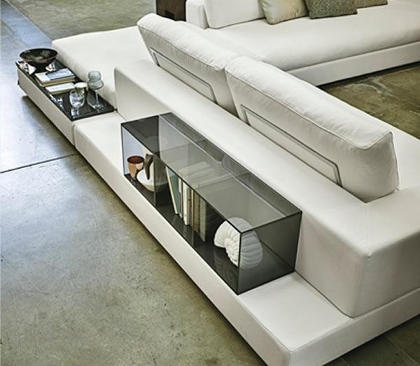 Fesselnd Design Sofa Plat Von Arketipo Mit Integriertem Regal Und   Design Sofa Plat  Von Arketipo Mit