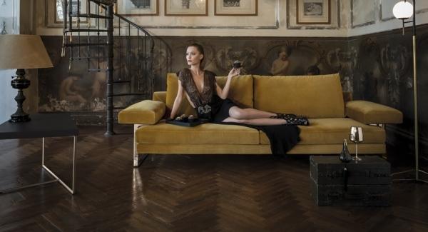design sofa plat von arketipo mit integriertem regal und