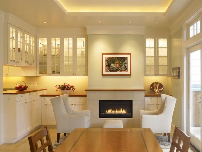 abgehängte decke led streifen küche weiß landhaus led leisten - küche landhaus weiß