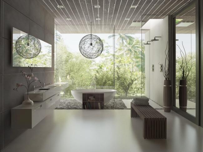 Minimalistisches Bad Design - 38 Ideen für edle Badezimmergestaltung - badezimmer egal wo