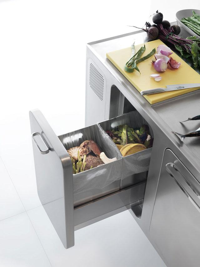Edelstahl Küche Abimis u2013 Wo Design Und Funktion Ineinander Fließen - design kuchen twelve hochfunktional