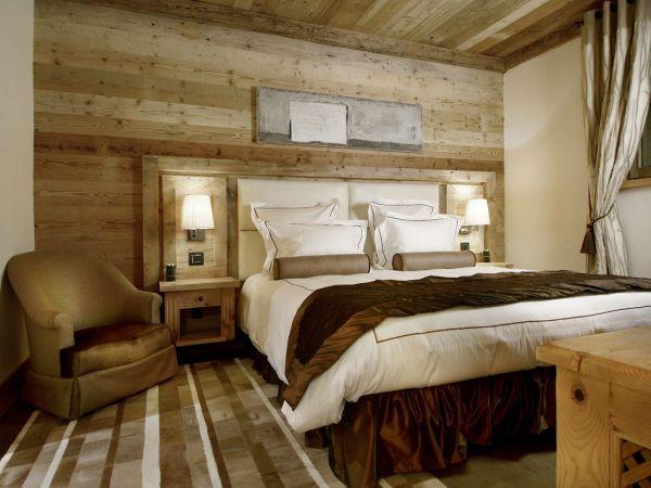30 Ideen für Schlafzimmer Einrichtung im Stil Chalet - schlafzimmer einrichten holz
