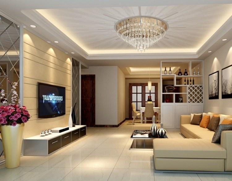 Moderne Deckengestaltung - 83 Schlaf- \ Wohnzimmer Ideen - muster wohnzimmer