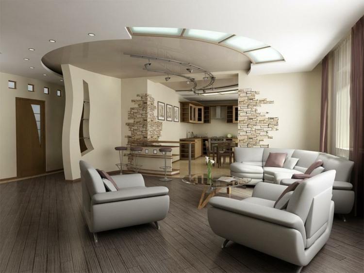 moderne deko paneele form wohnzimmer deckengestaltung - youtube ...