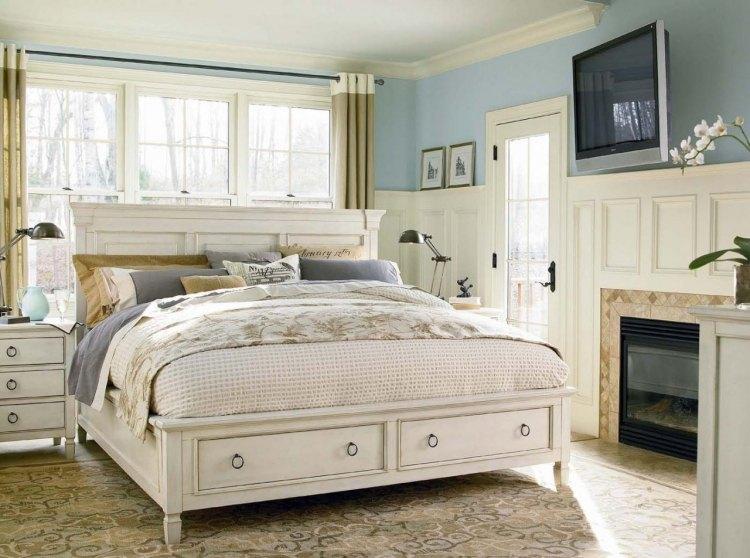schlafzimmer im shabby chic wohnstil | hausdesign.paasprovider.com