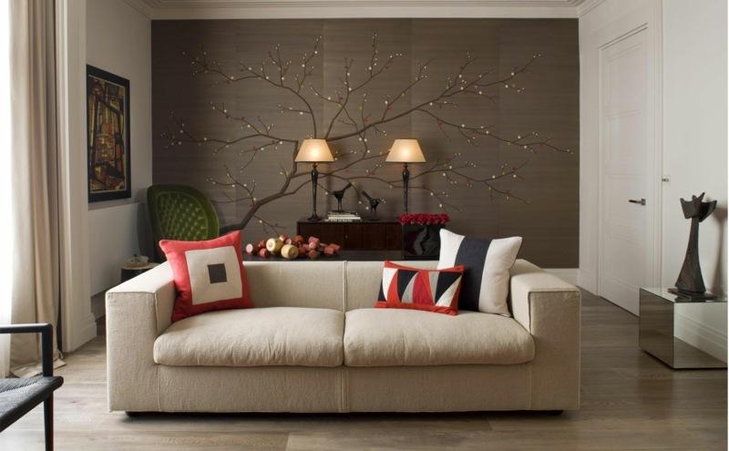 Handbemalte Chinesische Tapeten Aus Seide Mit Verschiedenen Mustern    Tapete Grau Wohnzimmer