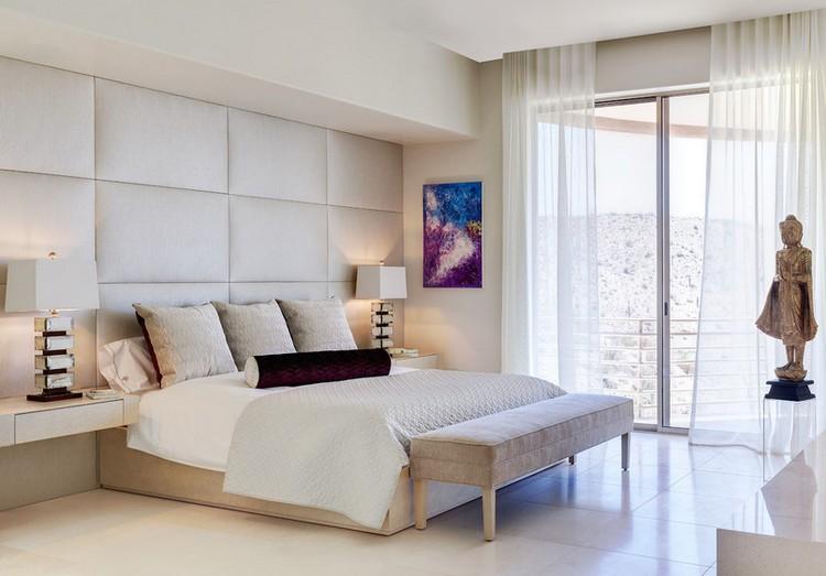 wand-mit-stoff-bespannen-wandpolster-creme-schlafzimmerjpg (750 - beleuchtung für schlafzimmer