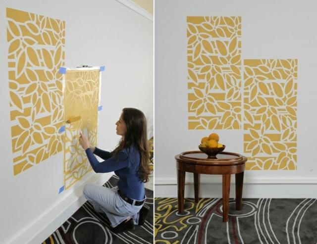 Wände streichen - 24 kreative Ideen mit Wandschablonen inkl Anleitung - wande farben ideen