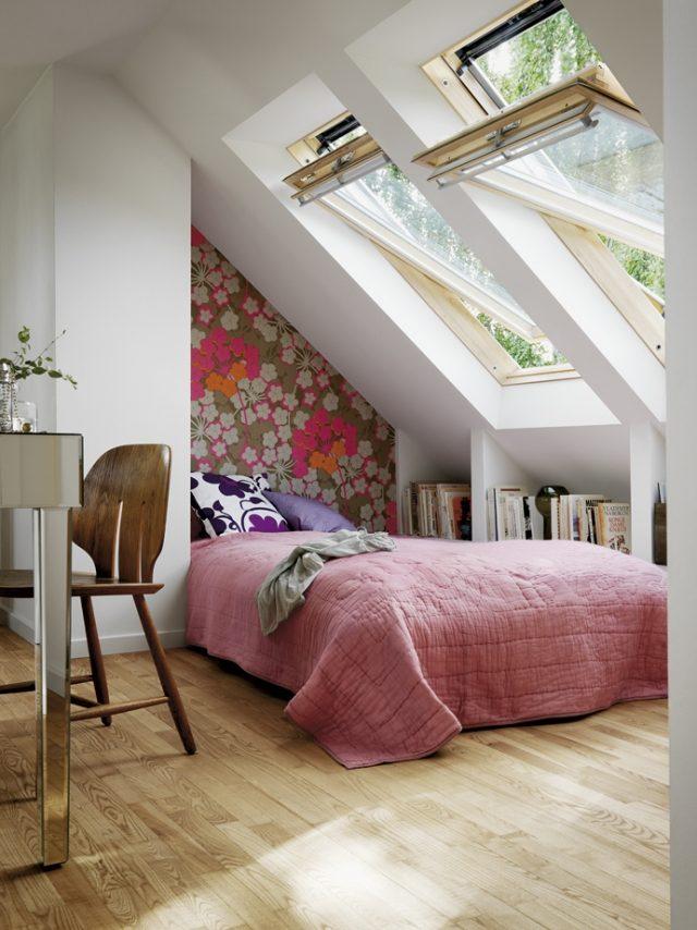 Kleines Schlafzimmer - Praktische Einrichtungsideen \ Raumeffekte - schlafzimmer dachschrage einrichten