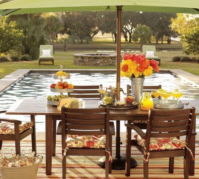 Perfekt Gartentisch Design   18 Ideen Für Beeindruckende Garten Gestaltung   Gartentisch  Design Ideen Garten Gestaltung