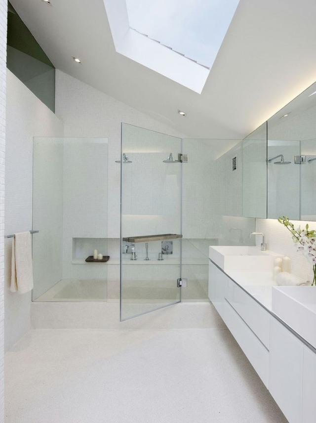 Bad mit Dusche modern gestalten - 31 ausgefallene Ideen - weies badezimmer modern gestalten