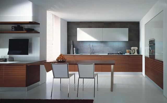 Schön Moderne Küchen Aus Italien Faszinieren Mit Intelligenz Und Kuche Aus Holz  Elegant Mobalco