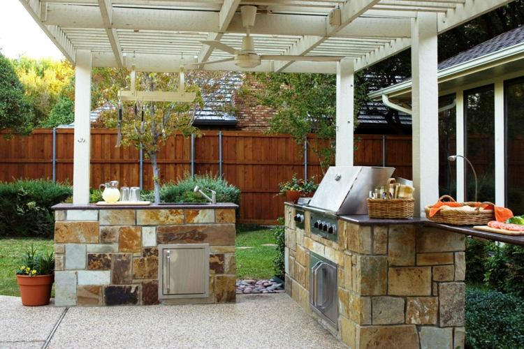 Was Sie beachten sollten, wenn Sie eine Küche im Garten planen - kuche im garten balkon grill